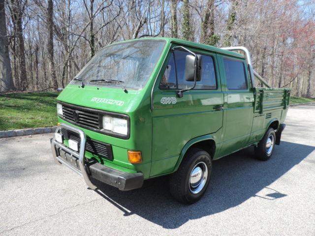 1990 transporter syncro doka 1 9 turbo diesel 5 speed low miles no reserve. Black Bedroom Furniture Sets. Home Design Ideas