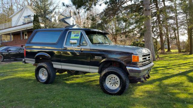 1991 ford bronco custom sport utility 2 door 5 8l
