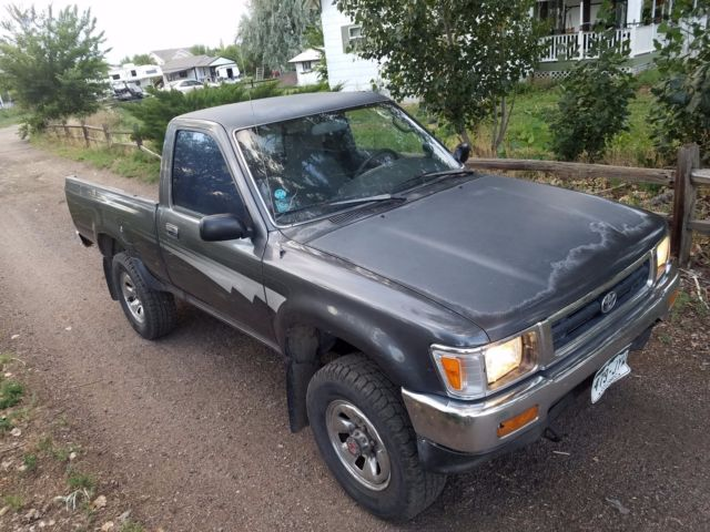 1992 4x4 toyota pickup short bed dlx 22re 4 cylinder manual clean. Black Bedroom Furniture Sets. Home Design Ideas