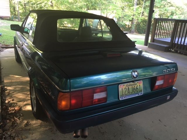 1992 bmw 325i green with black trim. Black Bedroom Furniture Sets. Home Design Ideas