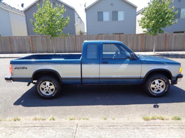 1992 chevrolet s10 pick up truck 4wd low miles 1993 1991 1990 1994 1995 gmc. Black Bedroom Furniture Sets. Home Design Ideas