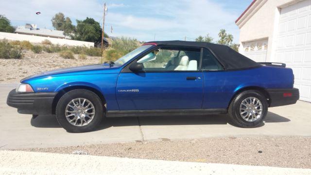 1992 chevy cavalier convertable 3 1 engine 2 door blue. Black Bedroom Furniture Sets. Home Design Ideas
