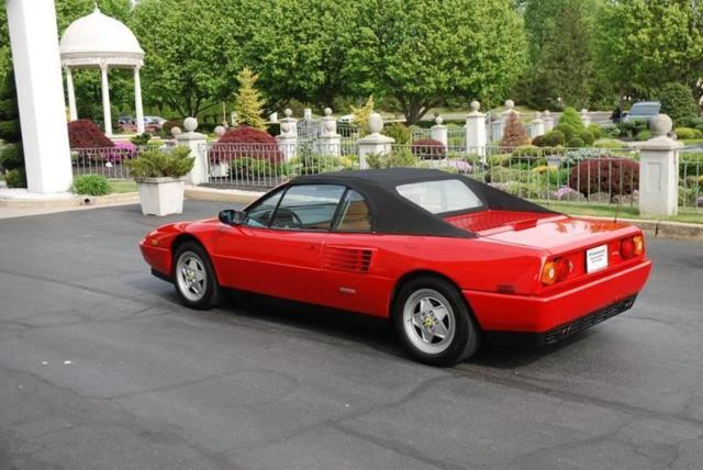1992 ferrari mondial t cabriolet 6 950 miles red convertible other 8 cylinder 3. Black Bedroom Furniture Sets. Home Design Ideas