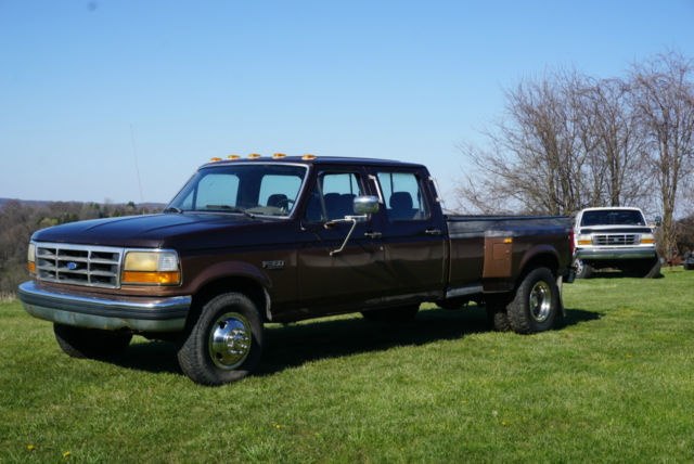 1992 ford f350 crew cab 4 door dually pickup truck 7 3 idi. Black Bedroom Furniture Sets. Home Design Ideas