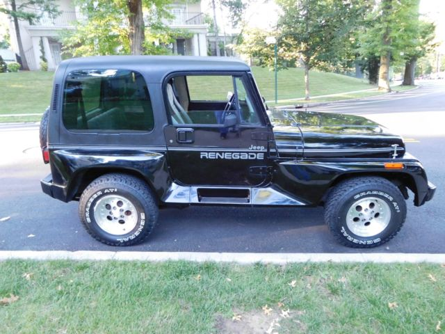 1992 jeep wrangler renegade yj convertible 4x4 real renegade cold ac real nice. Black Bedroom Furniture Sets. Home Design Ideas