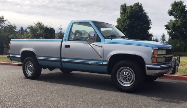 1993 chevy silverado 2500 454 single cab long bed gas three quarter ton 3 4 ton. Black Bedroom Furniture Sets. Home Design Ideas