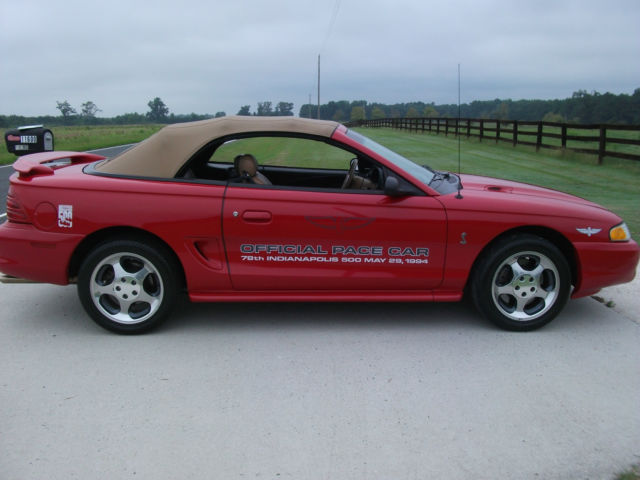 1994 ford mustang 5 0 cobra indy pace car 415 of 1000. Black Bedroom Furniture Sets. Home Design Ideas