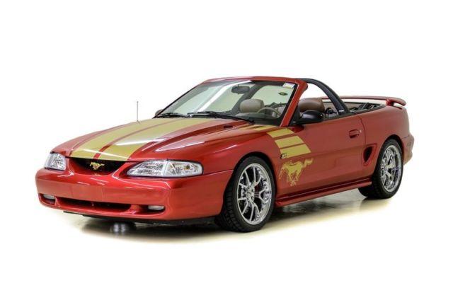 1994 ford mustang gt gold edition 136446 miles laser red convertible 5 0 liter. Black Bedroom Furniture Sets. Home Design Ideas