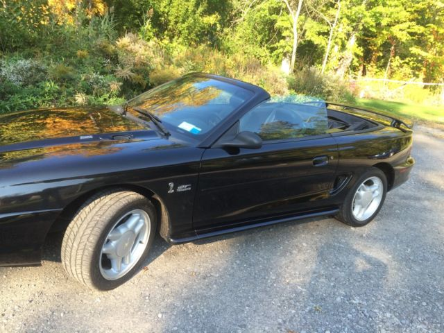 1994 ford mustang gt triple black convertible. Black Bedroom Furniture Sets. Home Design Ideas