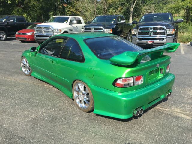 1994 honda civic coupe highly modified lowered audiobahn stereo more