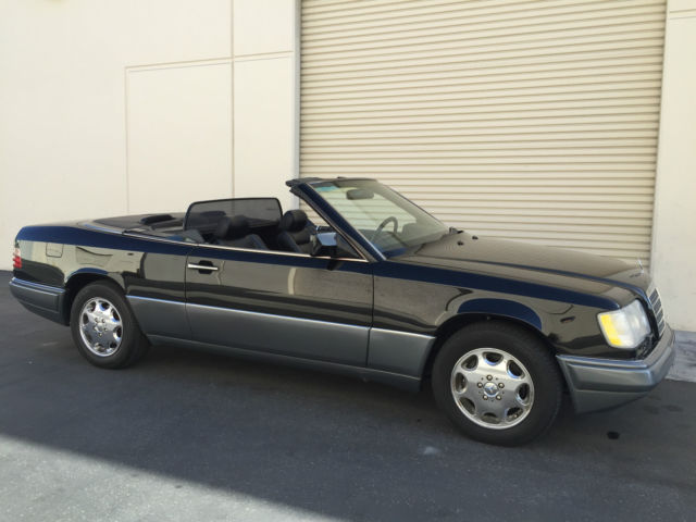 1994 mercedes benz e320 cabriolet w124 triple black for Mercedes benz foothill ranch service specials
