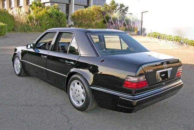 1994 mercedes e500 rare 040 black black full history for Mercedes benz burlingame