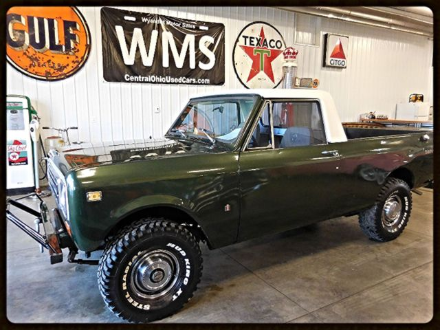 75 Green White Terra Scout Ih International 4x4 Manual 4 Cyl Truck Pickup Wms 74
