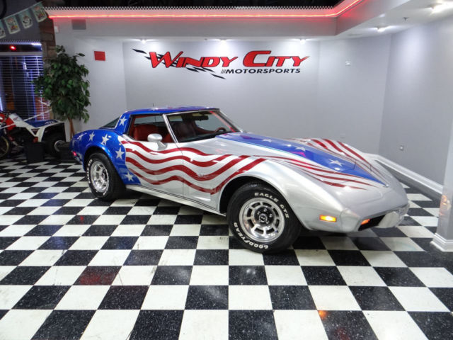 Windy City Motorsports >> 79 Chevy Corvette Stingray Coupe T-Tops L82 Custom 'Merica Paint Job Adult Owned
