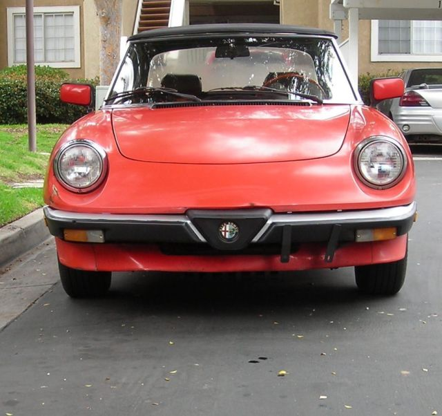 Alfa Romeo Spider 1983 SoCal Dry Solid Garage Find, CA