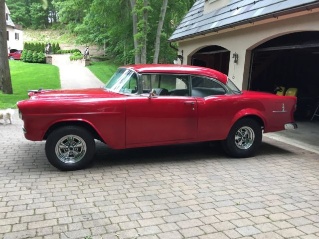 Awesome 1955 chevy bel air hardtop sport coupe in candy apple red - 1955 chevrolet belair sport coupe ...