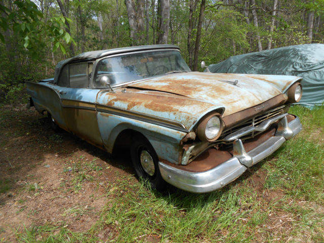 Barn Find 1957 57 Ford Fairlane 500 Convertible