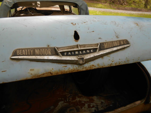 Barn Find Ford Fairlane Convertible Restoration Project Y Block
