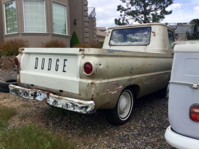 barn find 1966 dodge a100 pickup truck with auto trans slant 6 engine titled. Black Bedroom Furniture Sets. Home Design Ideas