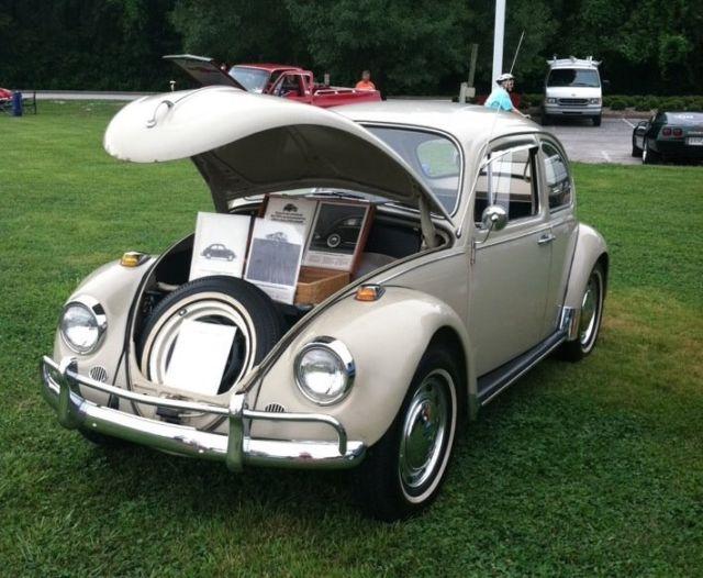 Beautiful savannah beige 1967 volkswagen beetle