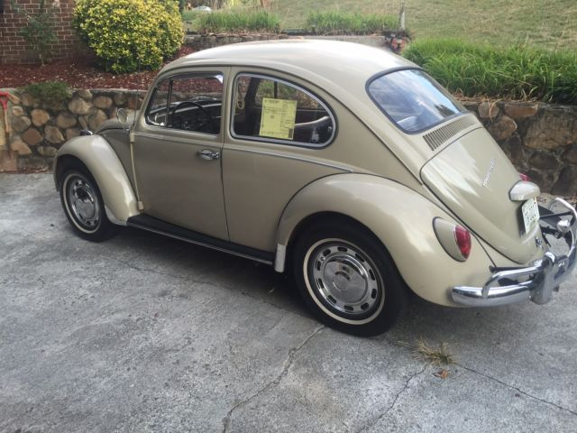 beautiful savannah beige 1967 volkswagen beetle. Black Bedroom Furniture Sets. Home Design Ideas