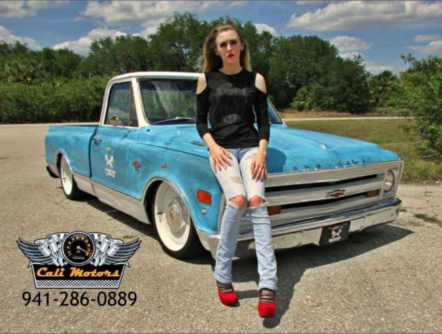 C10 SHOP TRUCK 6.0 LS swap 6-speed BAGGED AIR RIDE PATINA ...