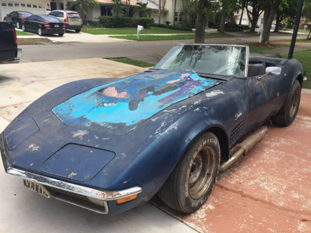 Miami Used Chevrolet >> Chevrolet 1971 Corvette Stingray Convertible 454 project car Marching Numbers
