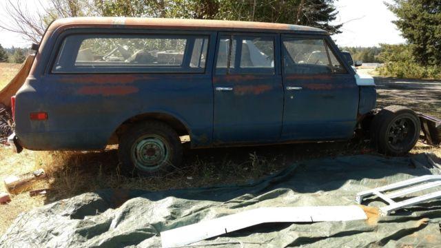 Chevrolet suburban chevy 3 door 2wd 1969 67 68 70 71 72 c10 20 for 10 door suburban