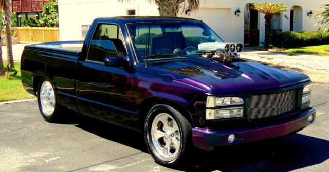 chevy pro street truck ac  blower  stroker  wheels  fabbed