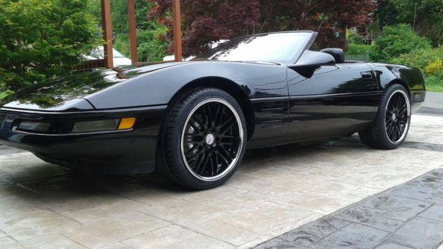 Corvette Convertible Roadster 1991 Staggered Cray Wheels