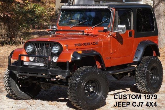Custom 1979 jeep cj7 4x4 chevy v8 350 dana 44 auto lifted for Cj custom homes