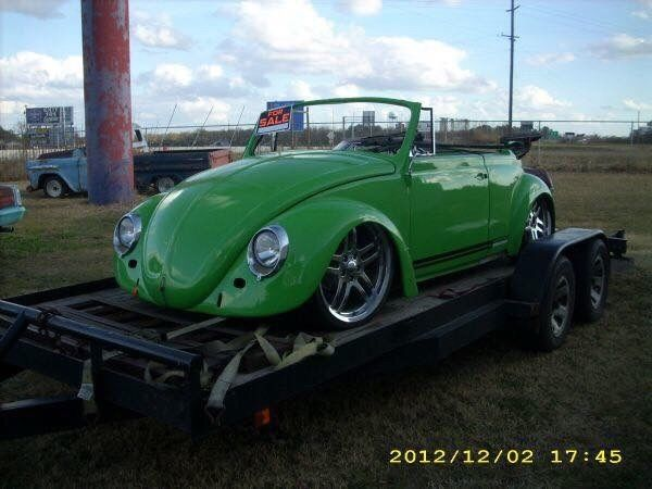 Custom Wide Body Bagged 1968 Volkswagen Convertible Beetle Bug