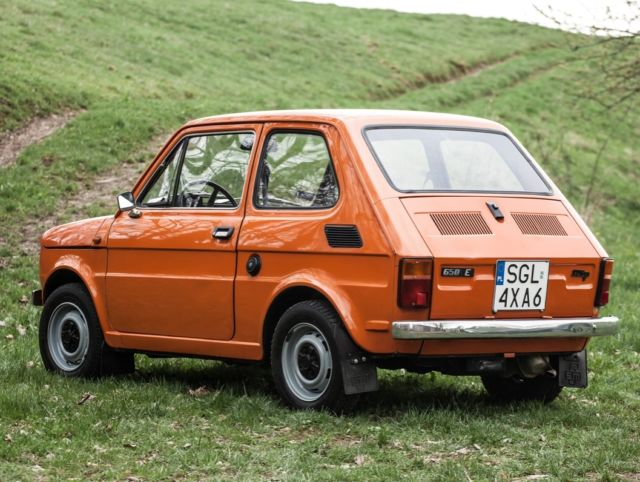 fiat 126p polski fiat 1985 orange maluch. Black Bedroom Furniture Sets. Home Design Ideas