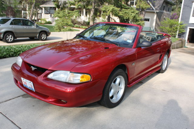 ford mustang convertible gt 1994. Black Bedroom Furniture Sets. Home Design Ideas