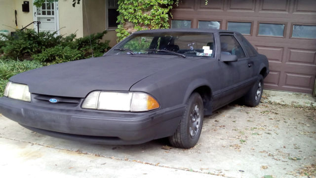 ford mustang lx 1989 fox 2 3 l 4 cylinder fuel injected original owner 69k m. Black Bedroom Furniture Sets. Home Design Ideas
