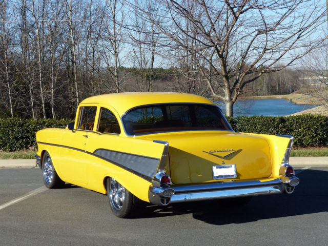 57 chevy custom restored horsepower frame