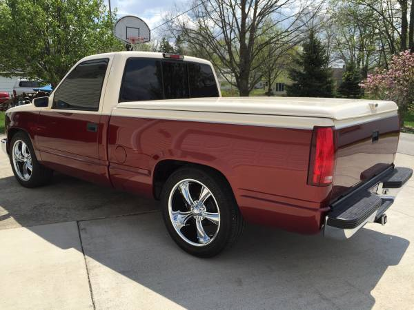 "Lowered Silverado For Sale >> gmc sierra C/K 1500 red white two tone short bed 20"" lowered bed liner tint hot"