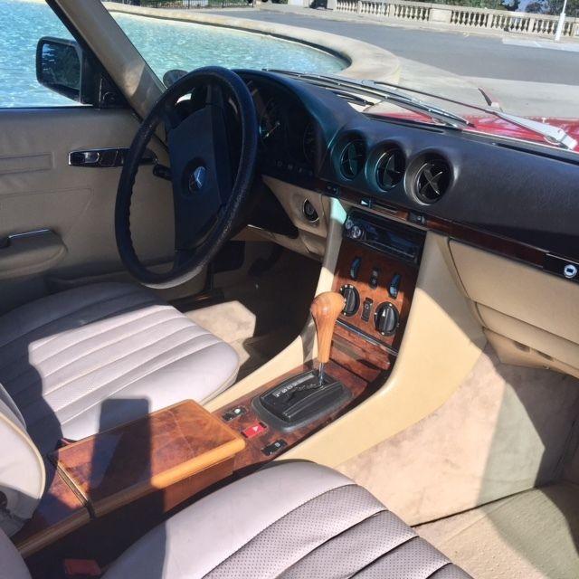 Mercedes-Benz 1984 European 280SL Rare R107 Chassis