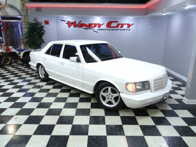 Mercedes benz 380se luxury sedan swb v8 amg body pkg euro for Mercedes benz v8 sedan