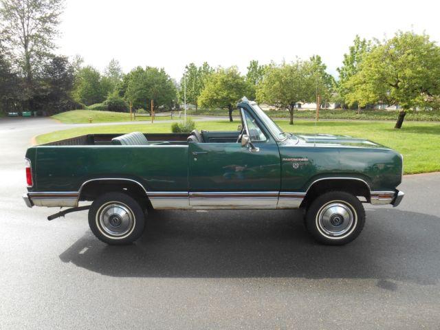 Old Dodge Ram >> MOPAR 1974 Dodge Ramcharger SE 360 AT 1 owner full convertible