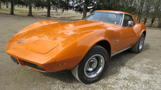 Orange 1974 Corvette Stingray Convertible