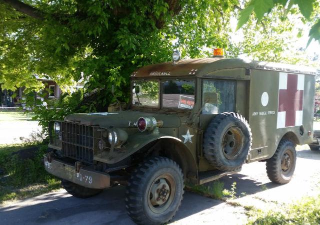 Post WWII US Army 1951 Dodge Truck M43 Panel Ambulance 3/4 ...