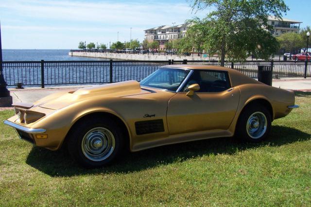 Rare 1972 War Bonnet Yellow Corvette Stingray Chrome