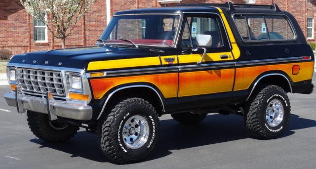 Rare 1979 Ford Bronco Ranger Xlt 4x4 Free Wheelin Package
