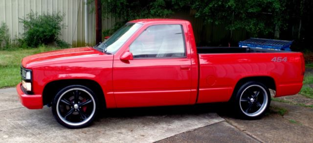 rare 1992 red 454 ss 45k chevy truck c 10 silverado 454ss overdrive 1378 made. Black Bedroom Furniture Sets. Home Design Ideas