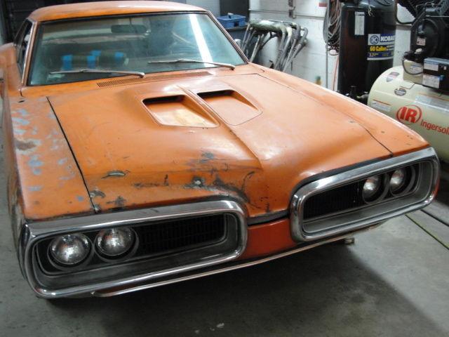 Real 1970 Dodge Super Bee Wm23 Orig Go Mango Burnt Orange 383 Auto