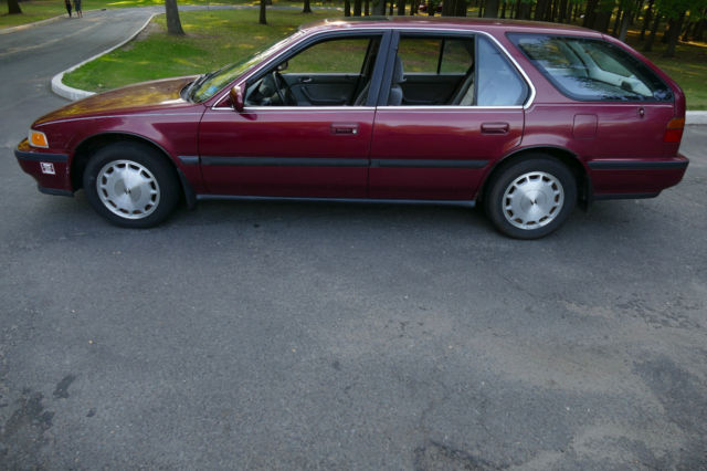 Red 1993 ex station wagon in excellent shape nj for Honda accord station wagon
