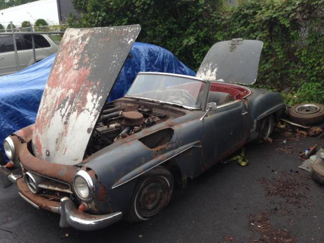 Restoration Project 1960 Mercedes 190sl Convertible