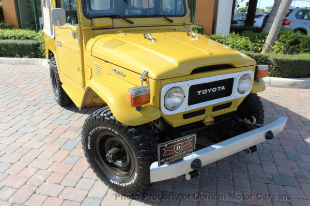 RESTORED FJ40 SOFT-TOP LAND CRUISER WITH A/C AND POWER STEERING