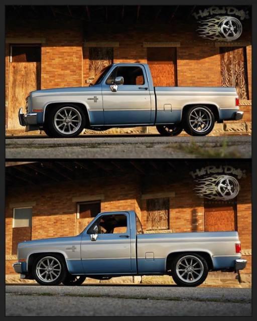 Slammed Silverado Squarebody C10 Chevy Hot Rat Street Rod